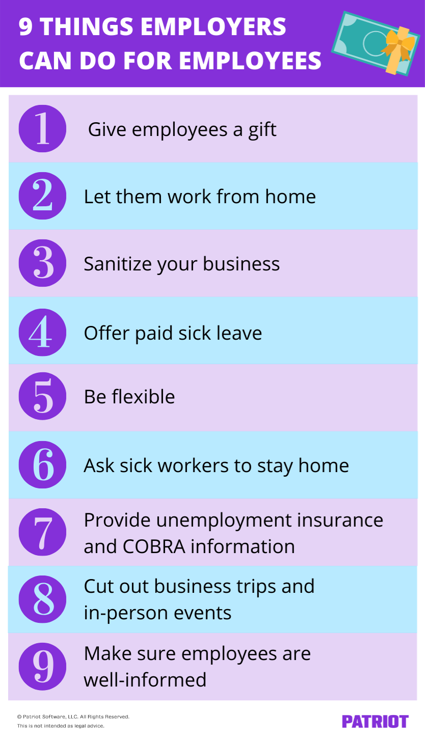 ways to help employees during the coronavirus
