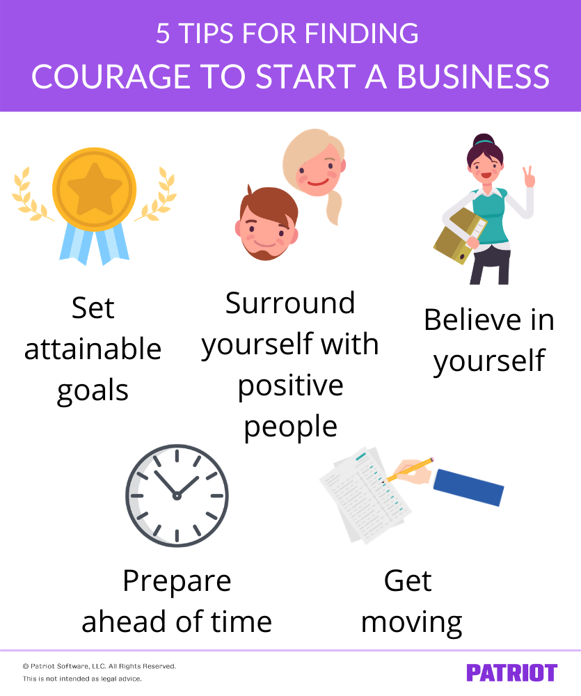 tips for finding the courage to start a business
