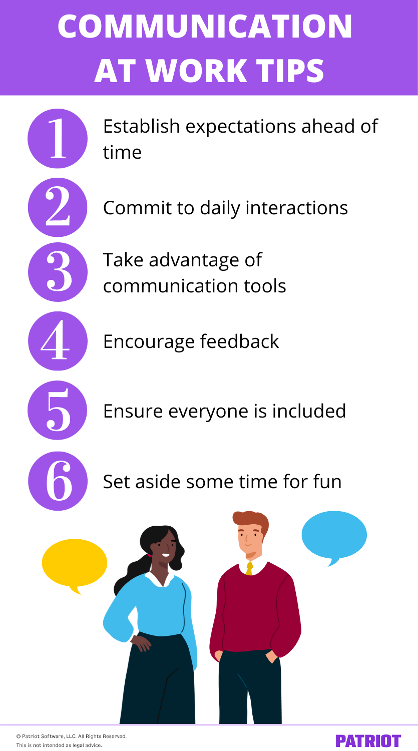 communication at work tips