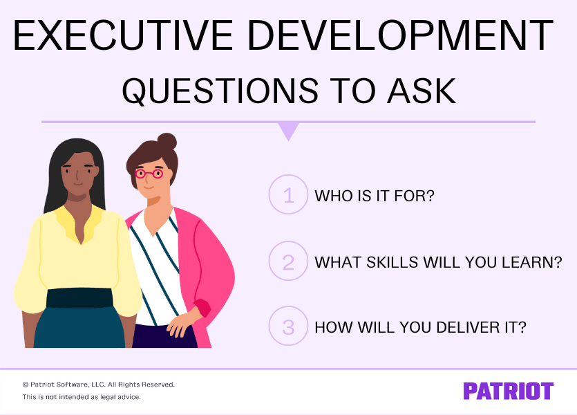 executive development: 3 questions to ask
