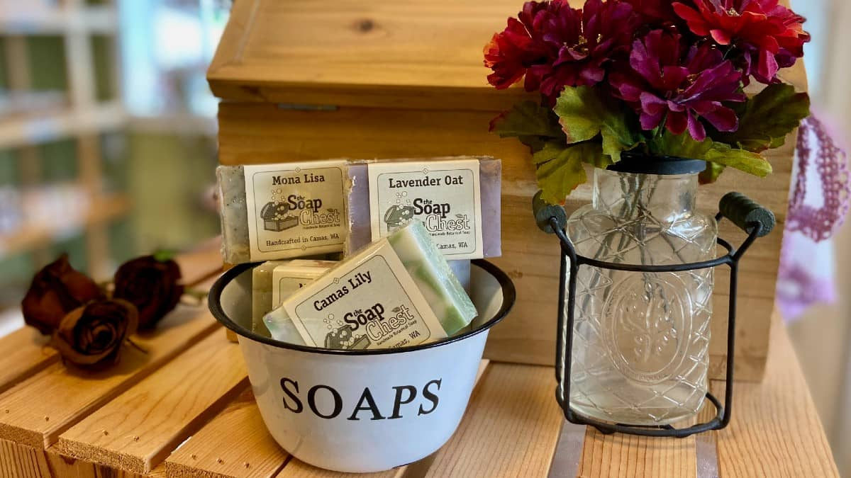 soap products from The Soap Chest in Washington state