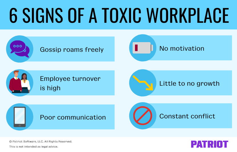 signs of a toxic workplace